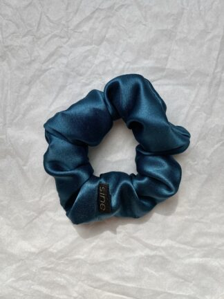 silk scrunchie sea green
