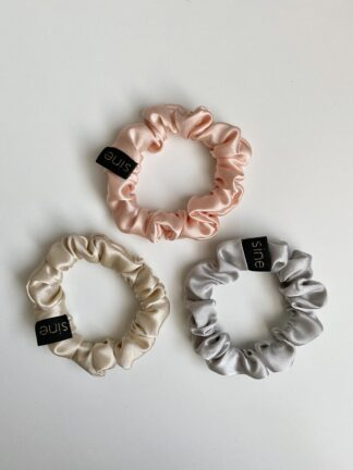 silk scrunchies set